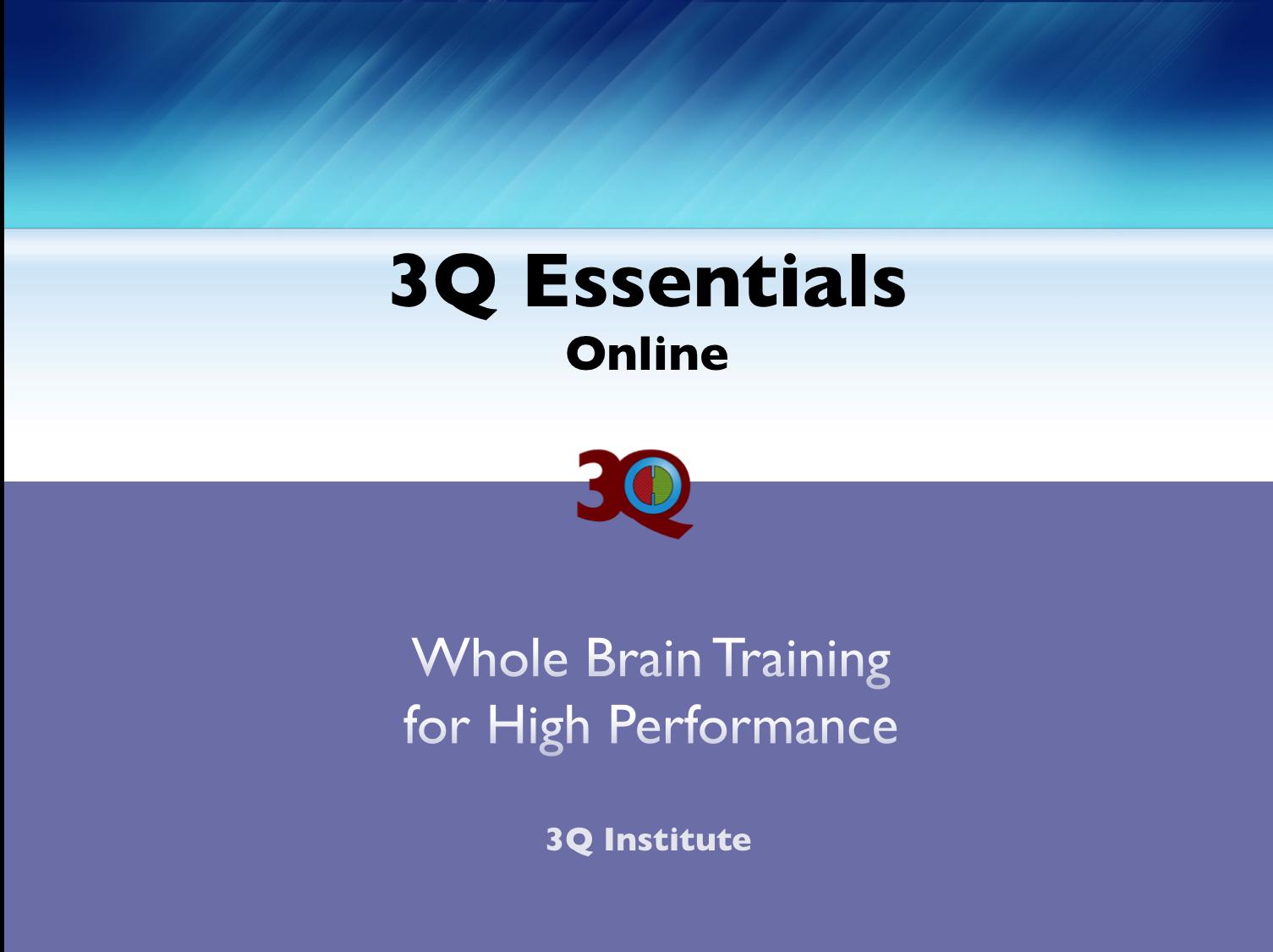 3Q Essentials Online