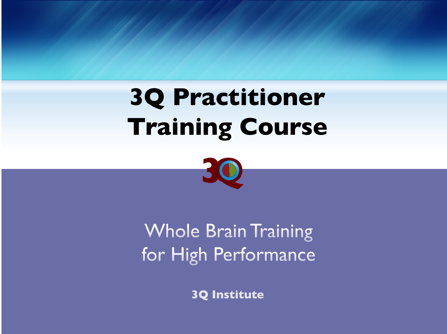 3Q Practitioner Training and Certification Course